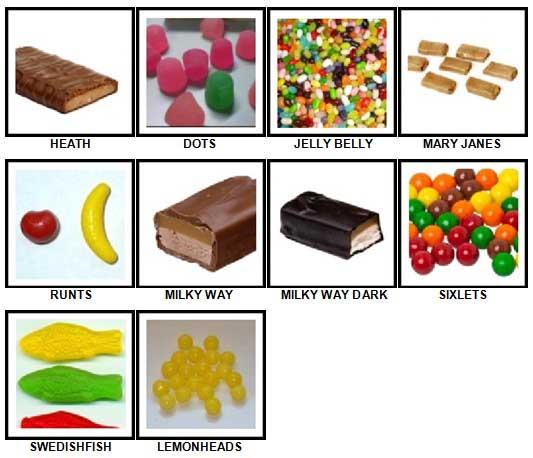 100 Pics Candy Answers 51-60