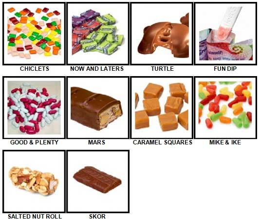 100 Pics Candy Answers 71-80