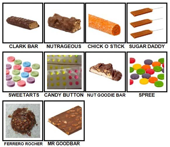 100 Pics Candy Level 81-90 Answers