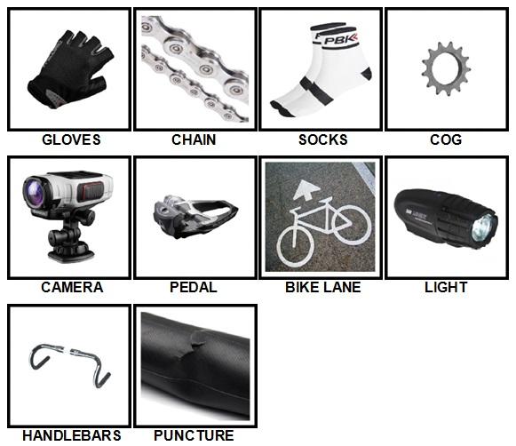100 Pics Cycling Level 1-10 Answers