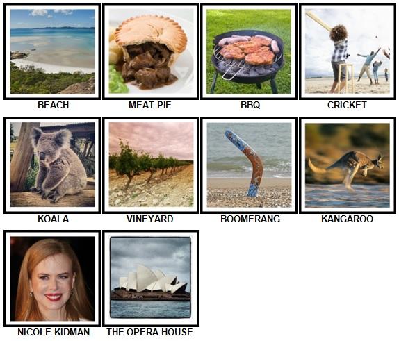 100 Pics I Love Australia Answers 1-10