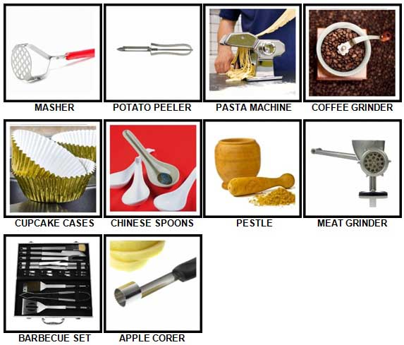 100 Pics Kitchen Utensils Answers 31-40