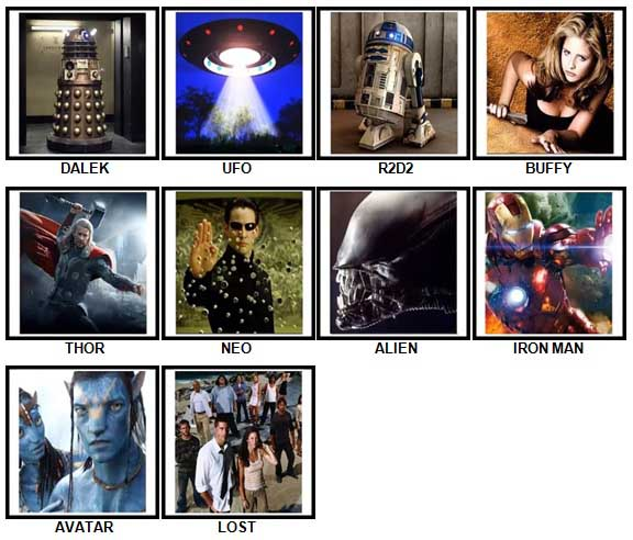 100 Pics Sci-Fi Answers 1-10