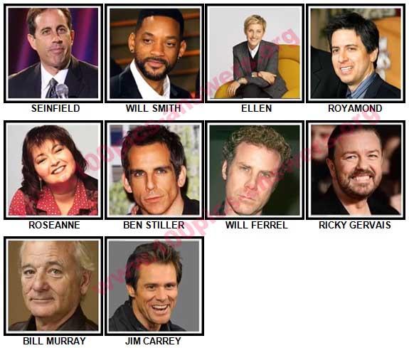 100 Pics Comedy Legends Answers 1-10