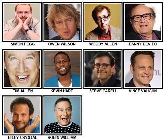 100 Pics Comedy Legends Answers 11-20
