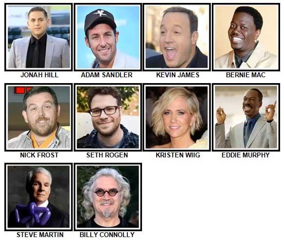 100 Pics Comedy Legends Answers 21-30