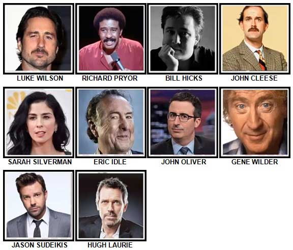 100 Pics Comedy Legends Answers 51-60