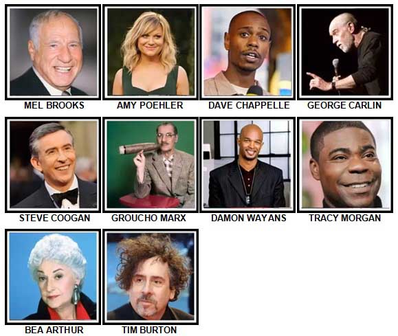 100 Pics Comedy Legends Answers 71-80