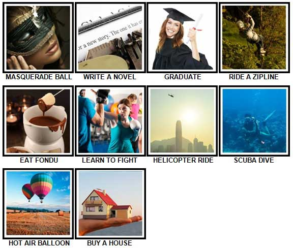 100 Pics Experiences Answers 61-70