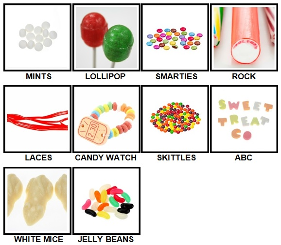 100 Pics Sweet Shop Level 1-10 Answers
