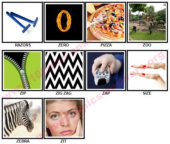 100 Pics Z is In Answers 1-10