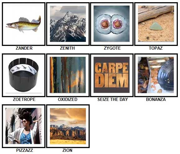 100 Pics Z is In Answers 91-100