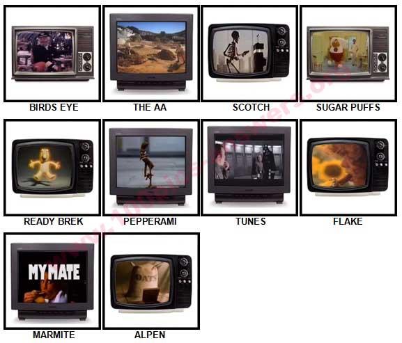 100 Pics Classic Ads Answers 41-50
