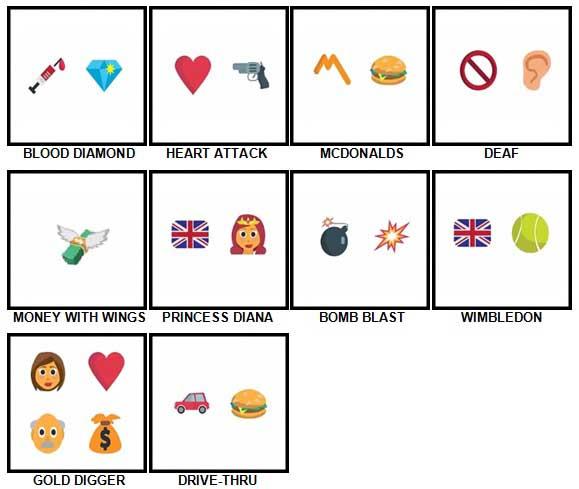 100 Pics Emoji Quiz 4 Answers 41-50
