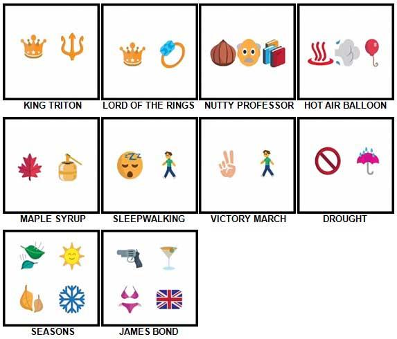 100 Pics Emoji Quiz 4 Level 71-80 Answers