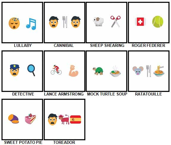 100 Pics Emoji Quiz 4 Level 81-90 Answers