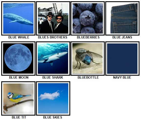 100 Pics Something Blue Answers 1-10