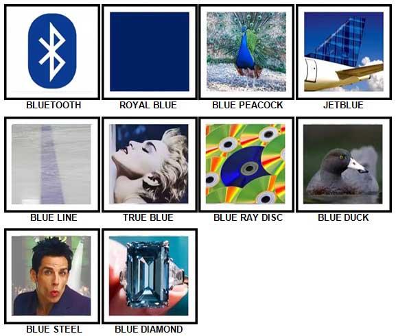 100 Pics Something Blue Level 21-30 Answers