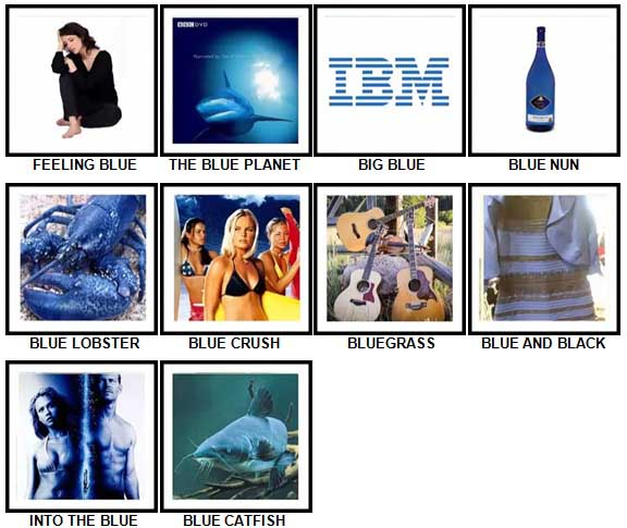 100 Pics Something Blue Level 41-50 Answers
