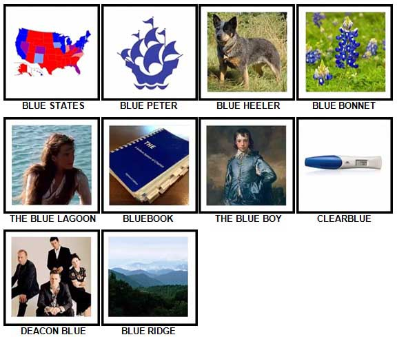 100 Pics Something Blue Level 81-90 Answers