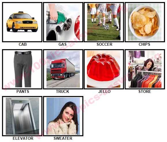 100 Pics Speak American Answers 1-10