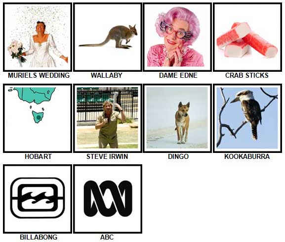 100 Pics I Love Australia Level 61-70 Answers