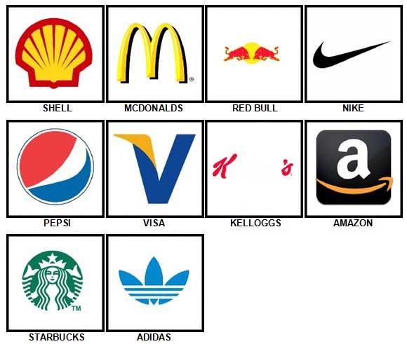 100 Pics Logos Answers Level 1-10