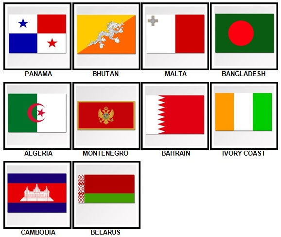 100 Pics Flags Level 71-80 Answers