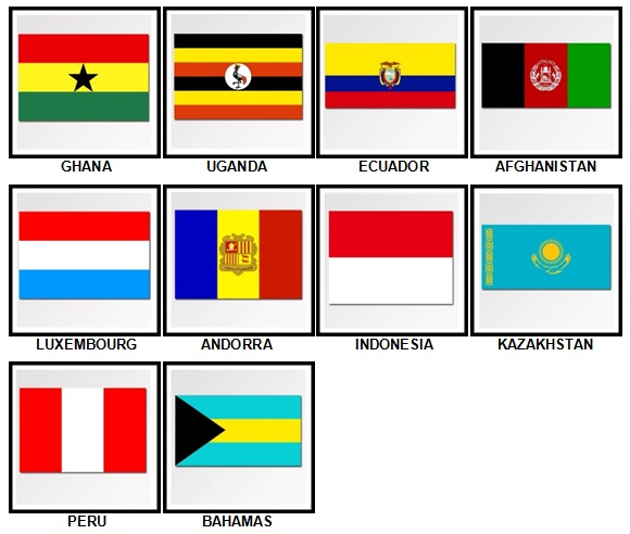100 Pics Flags Level 91-100 Answers