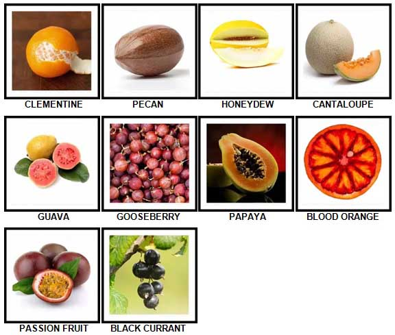 100 Pics Fruit and Nut Level 41-50 Answers and Cheats