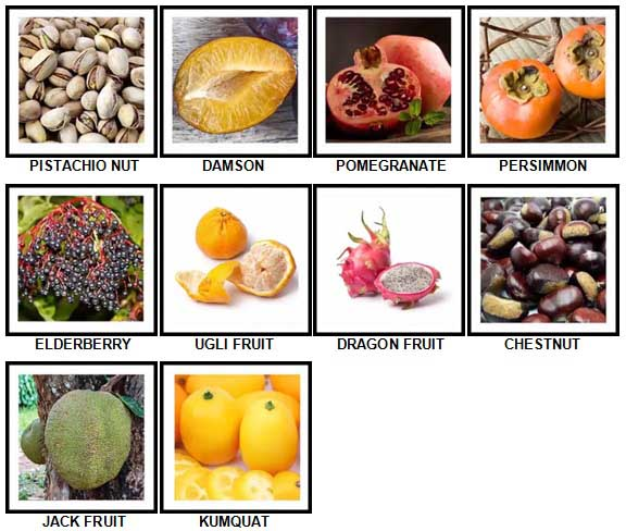 100 Pics Fruit and Nut Level 51-60 Answers