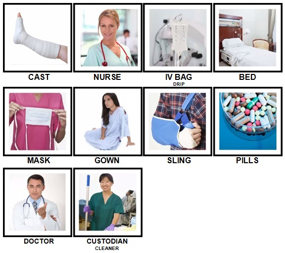 100 Pics In The Hospital Level 1-10 Answers