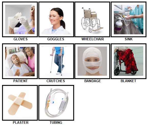 100 Pics In The Hospital Level 11-20 Answers