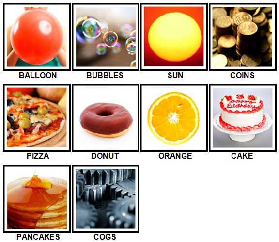 100 Pics Circular Level 1-10 Answers