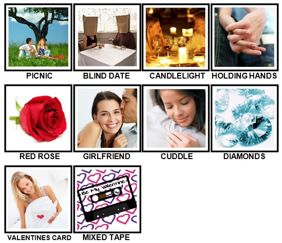 100 Pics Love Answers Level 1-10