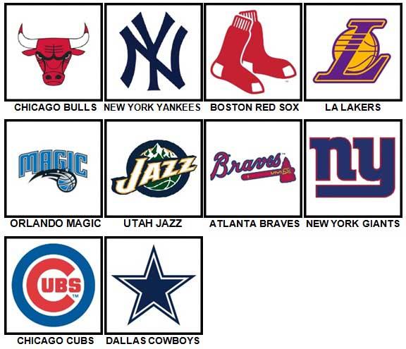 100 Pics Sports Logos Answers Level 1-10