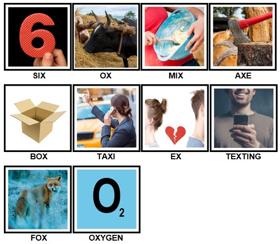 100 Pics X is In Level 1-10 Answers