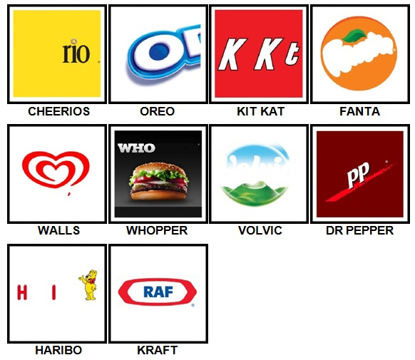 100 Pics Food Logos Answers 100 Pics Answers