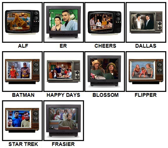 100 Pics TV Classics Answers Level 1-10