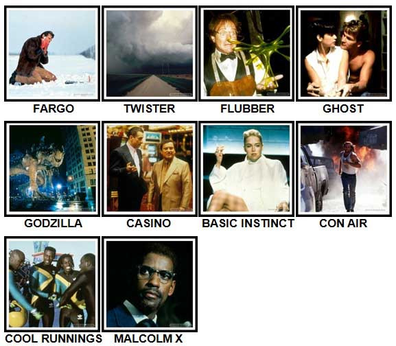 100 Pics 90s Movies Level 61 70 Answers