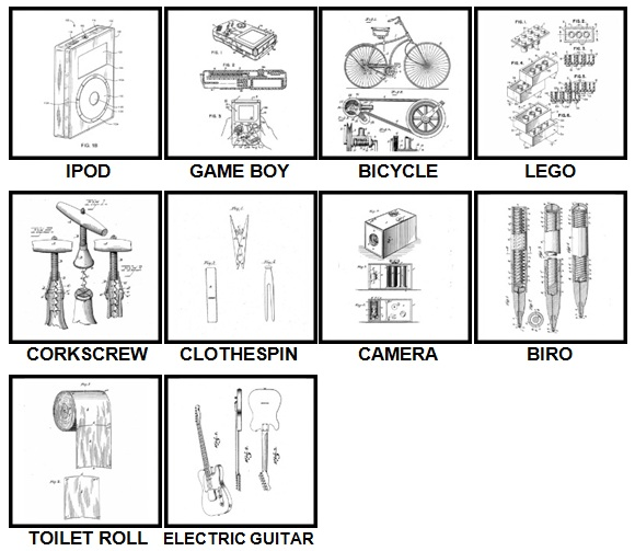 100 Pics Patents Answers Level 1-10