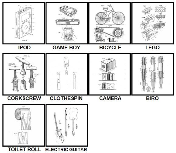 100 Pics Patents Answers Level 1-10