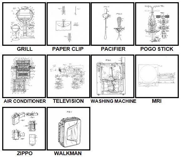100 Pics Patents Level 41-50 Answers