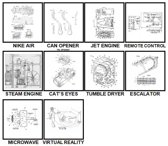 100 Pics Patents Level 61-70 Answers