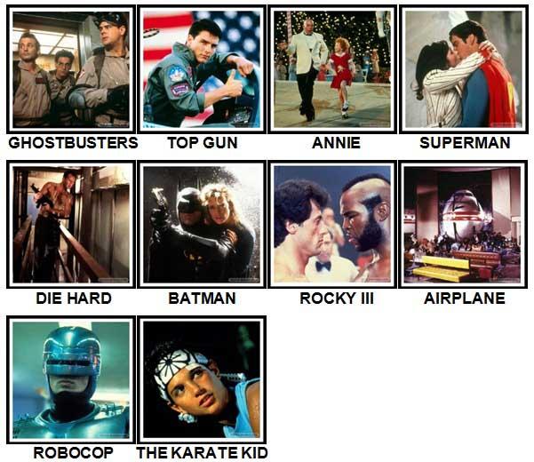100 Pics 80s Movies Answers 100 Pics Answers