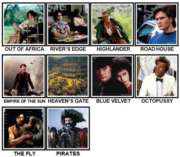100 Pics 80s Movies Level 61 70 Answers