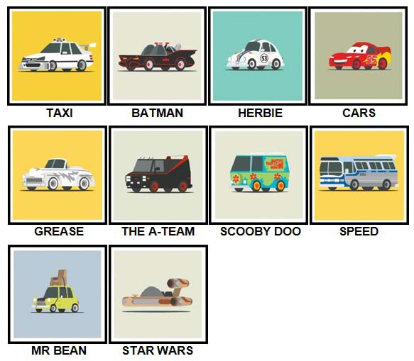 100 Pics Star Cars Level 1-10 Answers