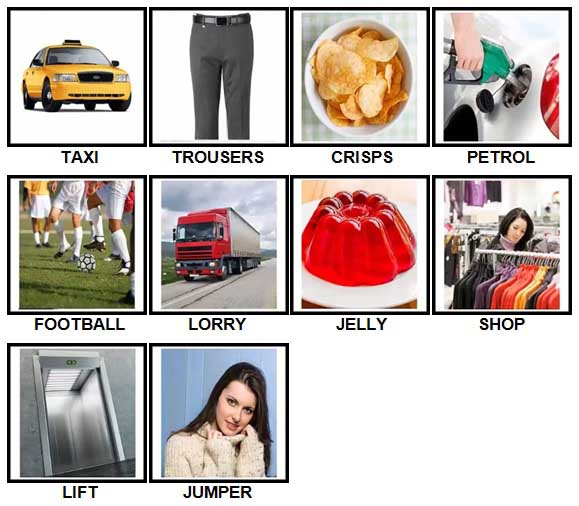 100 Pics British Speak Answers Level 1-10