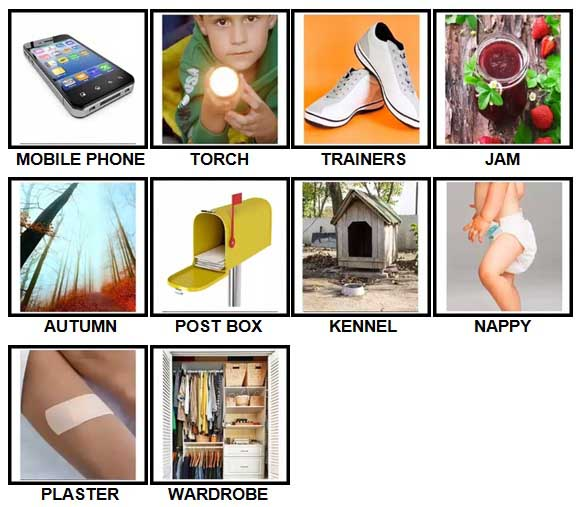 100 Pics British Speak Level 11-20 Answers