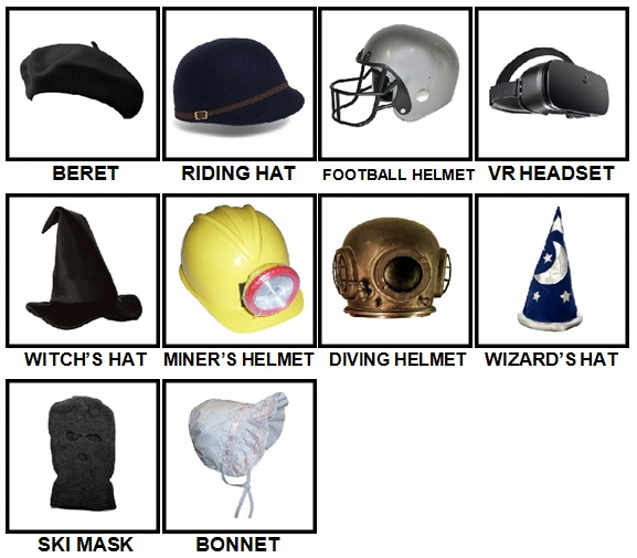100 Pics Headwear Level 31-40 Answers